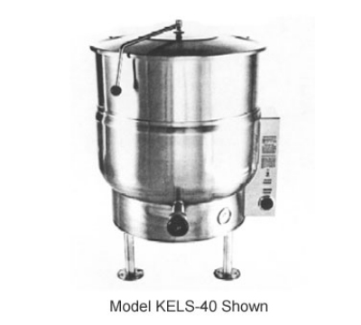 Southbend KELS-30 2083 30-Gallon Stationary Kettle, Thermostatic Control, 2/3-Jacket, 208/3 V