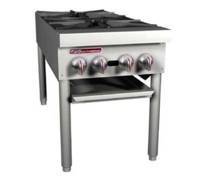 Southbend SPR-2J LP Double Stock Pot Range w/ (2) 3-Ring Cast Iron Burner, Manual, LP