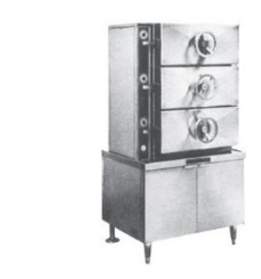 Southbend SC-3S 36-in 3-Compartment Pressure-Type Steam Coil Steamer, Cabi