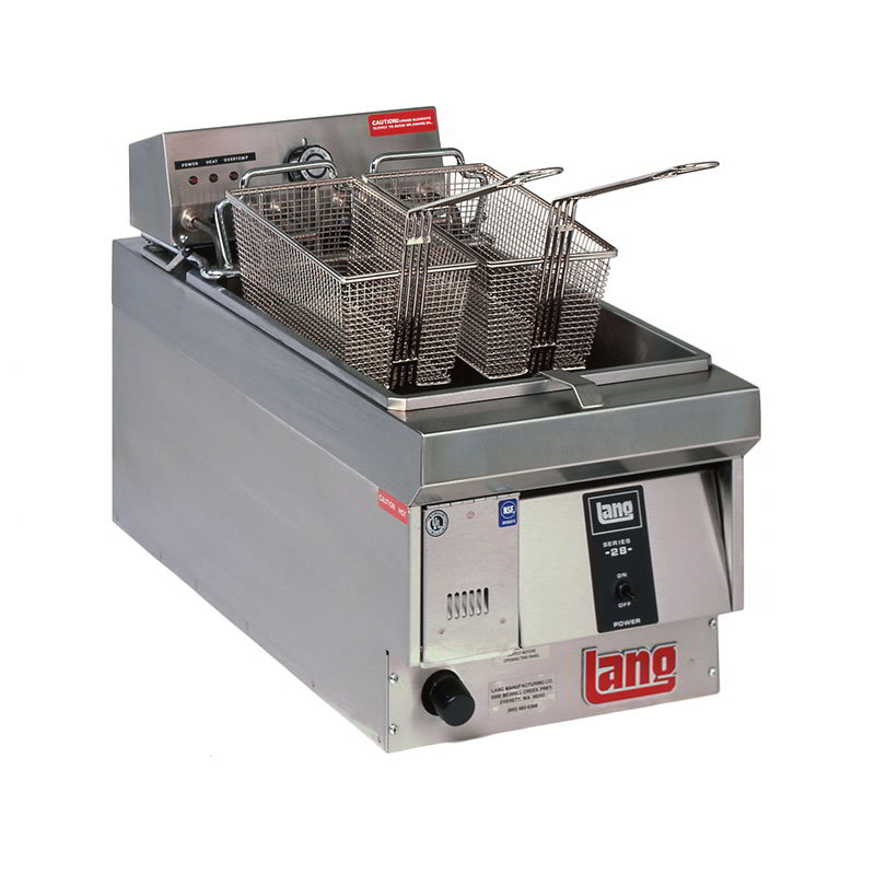 Lang 130F2083 Countertop Electric Fryer - (1) 28-lb Vat, 208v/3ph