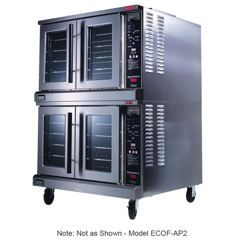 Lang ECOFAP12081 G & E Series Convection Oven Full-Size 1 Deck 5 Racks AccuPlus 208V Restaurant Supply