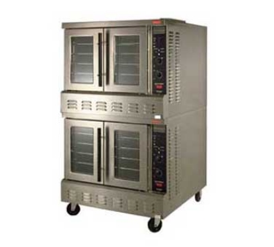 Lang GCODS2NG G & E Series Convection Oven Extra-Deep Selectronic II Double Deck NG Restaurant Supply