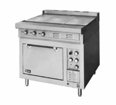 Lang R36BATE4803 36 in Range 6 Burner Open Cabinet Base 480V/3ph Restaurant Supply