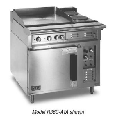 Lang R36CATE4803 36 in Range 6 Burner Convection Oven Base with 3 Racks 480V/3ph Restaurant Supply