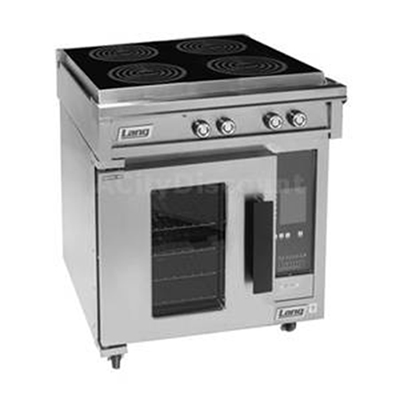 Lang RI30C-APA 2403 30-in Induction Range w/ 4-Glass Hobs & Convection Oven Base, Stainless, 240/3 V