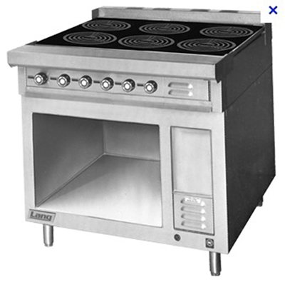 Lang RI36B-ATE 2081 Floor Model Commercial Induction Range, 208v