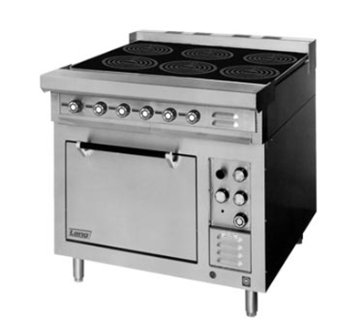 Lang RI36S-ATE 2081 36-in Induction Range w/ 6-Glass Hobs & Standard Oven Base, Stainless, 208/1 V