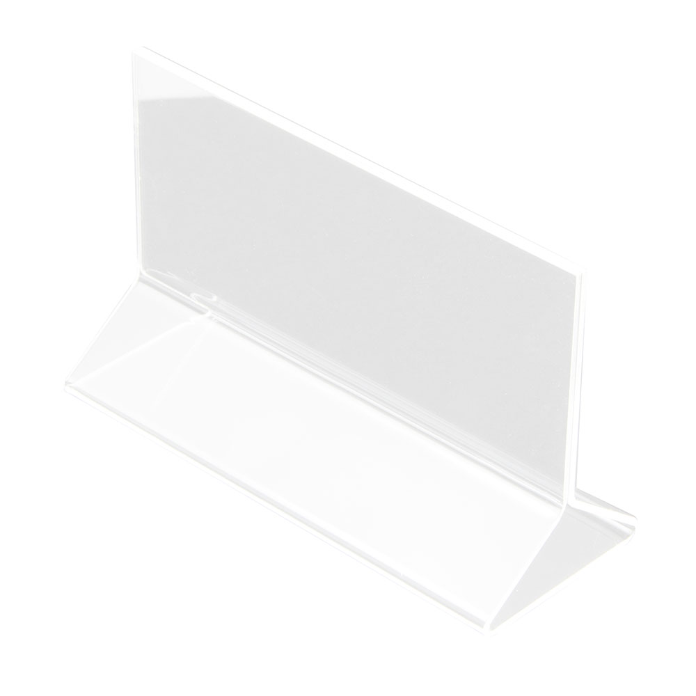 Update International ACH-53 5 in x 3-1/2 in Table Card Holder Clear Acrylic Restaurant Supply