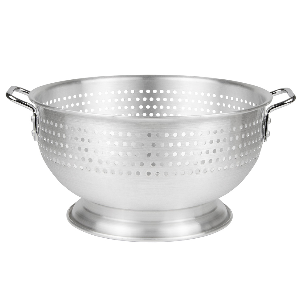 Update International ACO-11 11-qt Colander with Handles and Base - Aluminum