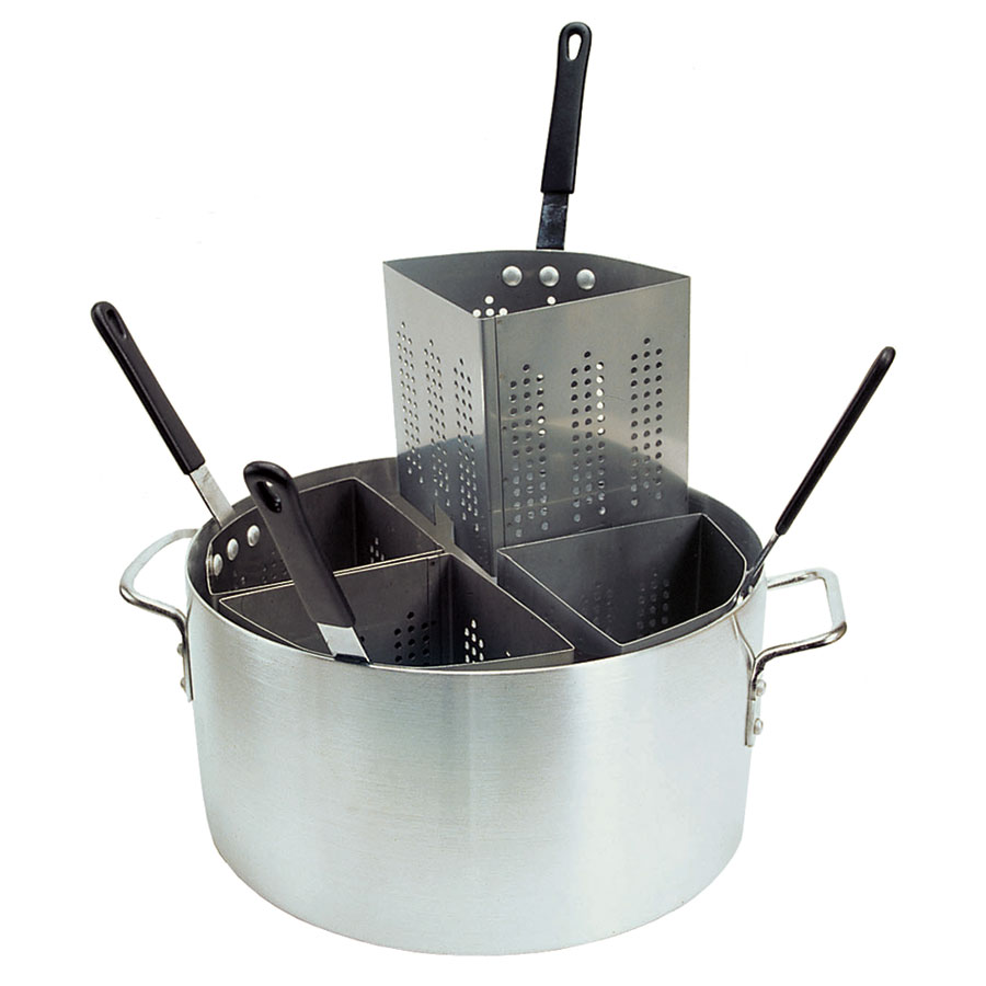 Update International APSA-4 20-qt Pasta Cooker Set - (4)Stainless Insets, Aluminum