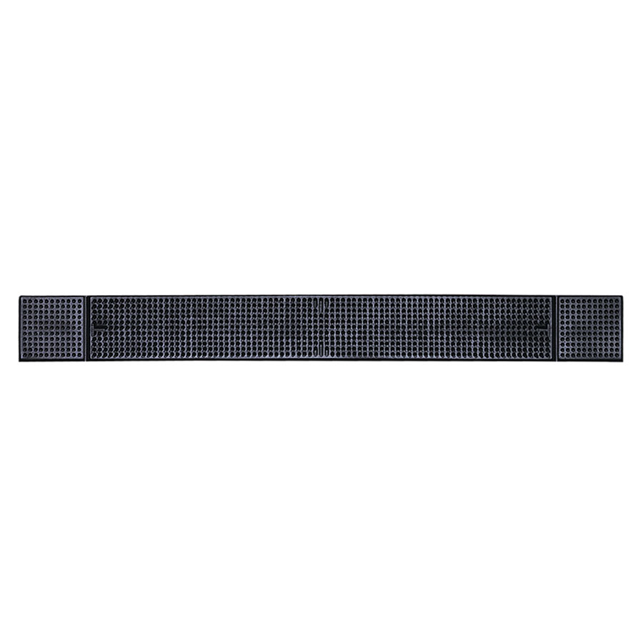 "Update International BM-27BK Bar Mat - 27x3-1/4"" Black"