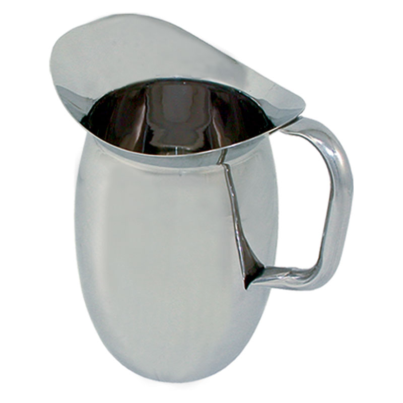 Update International BP-2G 2-qt Bell Pitcher with Guard - Stainless