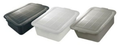 "Update International BB-5FSN Freezer -Safe Tote Box - 20-1/2x15-1/4x5"" Polypropylene, White"