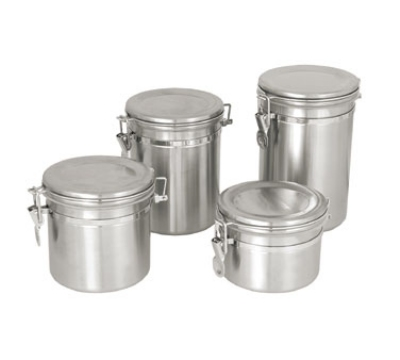 Update International CAN-5SS 45-oz Storage Canister - Stainless