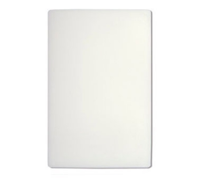 "Update International CB-1824 Poly Cutting Board - 18x24x1/2"" White"
