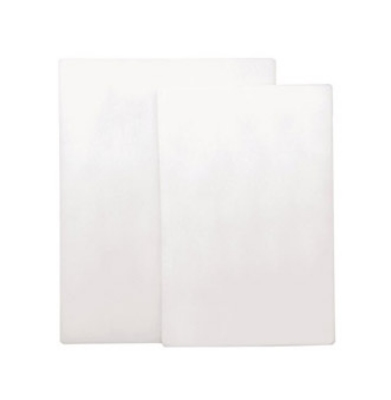"Update International CB-610 Poly Cutting Board - 6x10x1/2"" White"