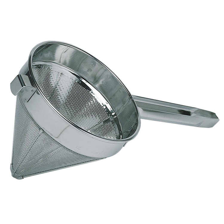 "Update International CC-12F 12"" Fine China Cap - Stainless"