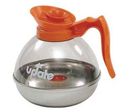 Update International CD-8890/OR 64-oz Coffee Decanter - Stainless/Orange