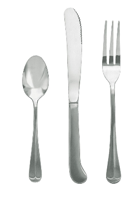 Update International CH-954H Chelsea 4-Tine Dinner Fork - 18/0 Stainless