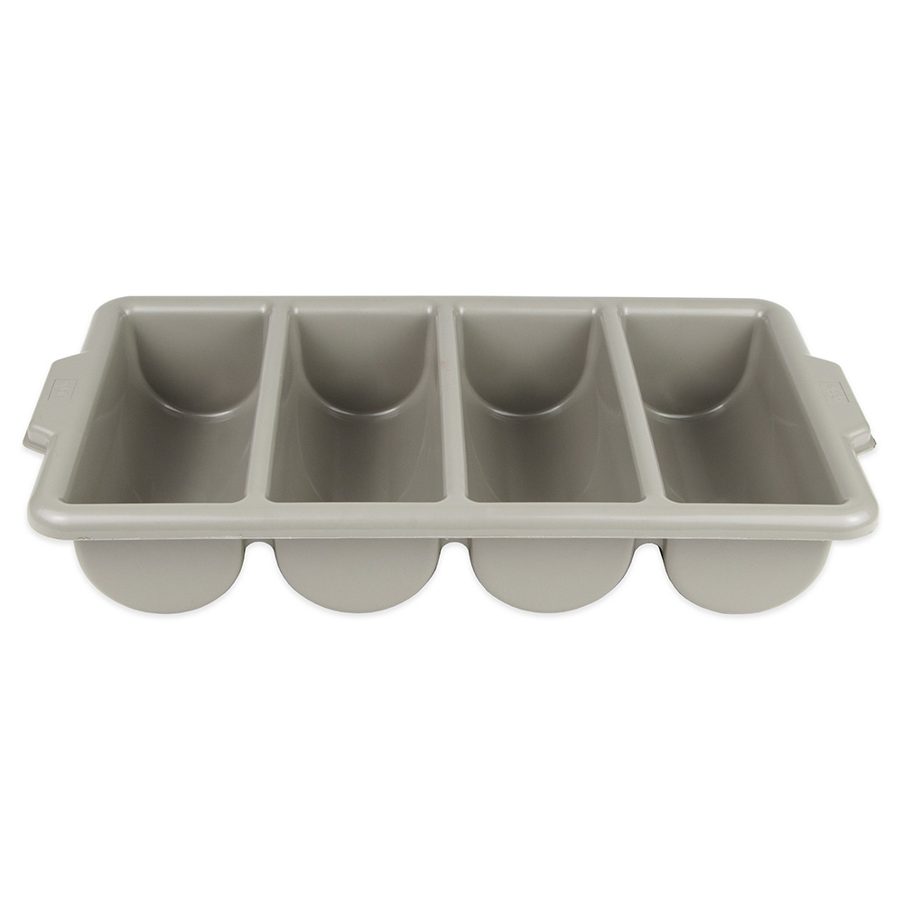 Update International CUT-4PPN 4-Compartment Cutlery Box - Polypropylene, Gray
