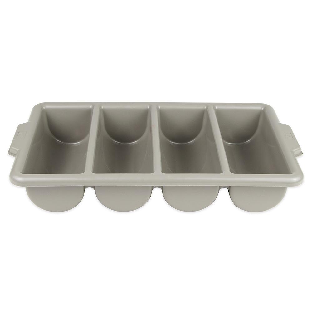 Update International CUT-4PPN 4-Compartment Cutlery Box - Polypropylene, Gray