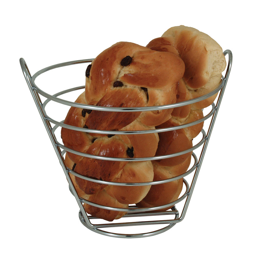 "Update International CWB-97 5-7/8"" Wire Basket - Chrome"