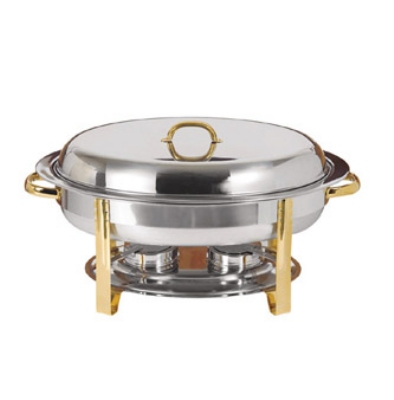 Update International DC-3DF 6-qt Oval Food Pan for DC-3 Chafer - 3-Division, Stainless