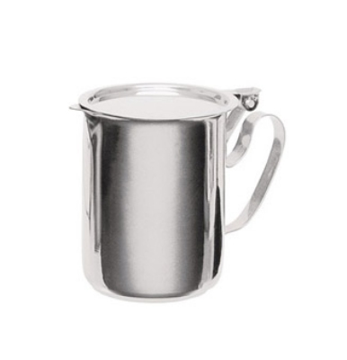 Update International SS-10 10-oz Economy Creamer - Flat Lid, Stainless