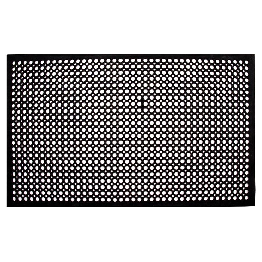 "Update International FM-35B 3/8"" Rectangular Anti-Fatigue Floor Mat - Slip-Resistant, 3x5' Black"