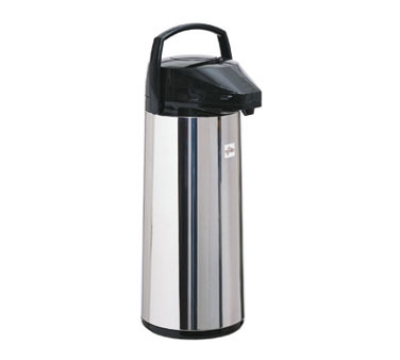 Update International FP-30D/BK/BT 3.0 Liter Lever Top Airpot, Stainless Steel, Black