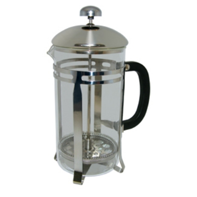 Update International FP-20 20-oz French Press - Black Bakelite Handle, Stainless Frame