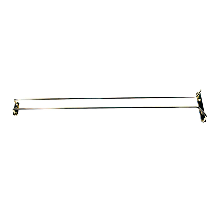 "Update International GHB-24 24"" Glass Hanger - Brass Plated"