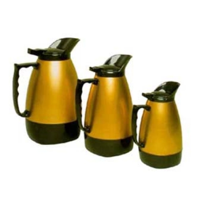 Update International H422/64 64-oz Insulated Coffee Server - Black/Gold Traditional