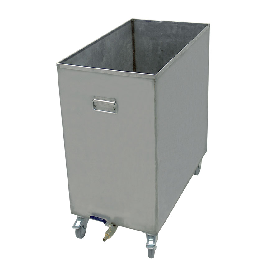 "Update International HFSC-6 16-gal Hood Filter Soak Cart - 25-2/8x13-7/8x27-3/8"" Stainless"