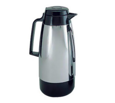 Update International KF-190 1.9-Liter Handy Pot Vacuum Server - Bru-Thru Lid, Chrome/Black