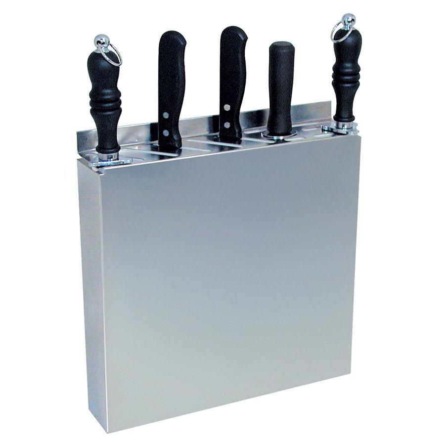 """Update International KR-1212 12-Slot Knife Rack - 12-1/2x2-1/2x12-3/4"""" Stainless"""
