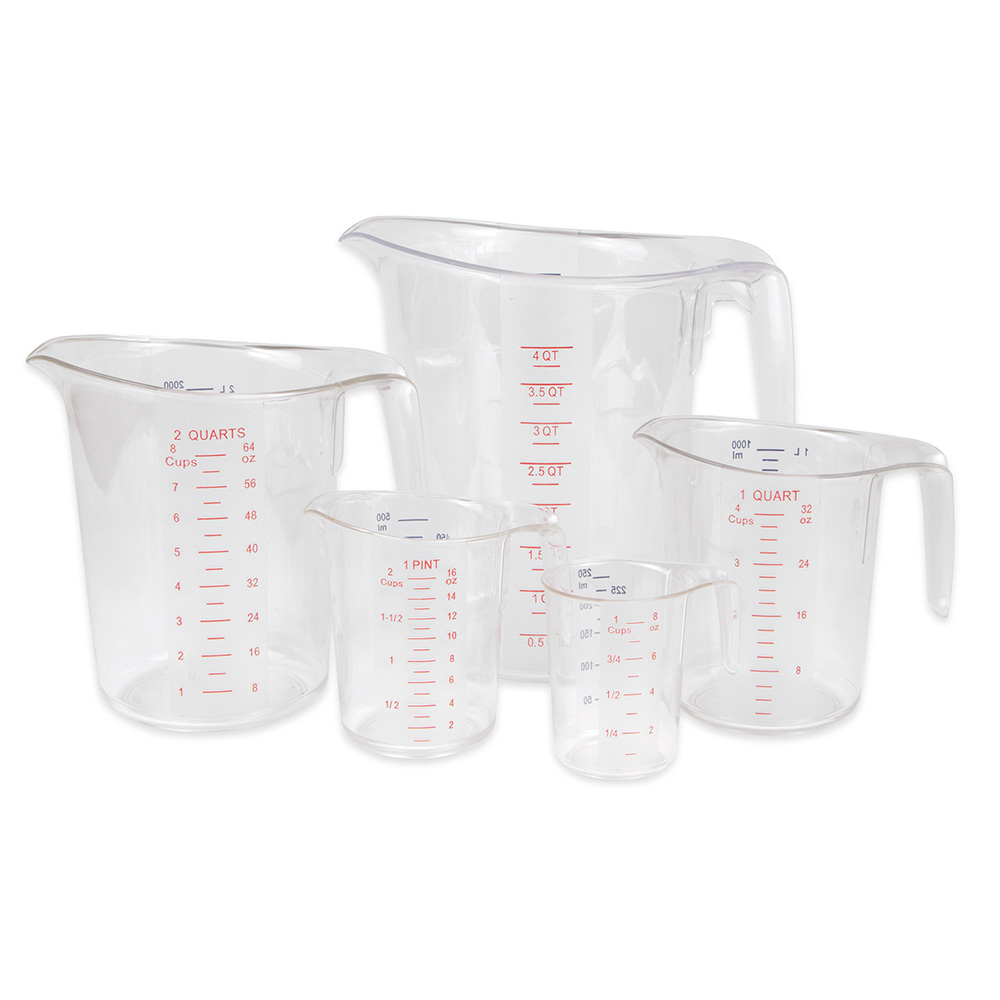Update International MEA-PC/SET 5-Piece Measuring Cup Set - Polycarbonate