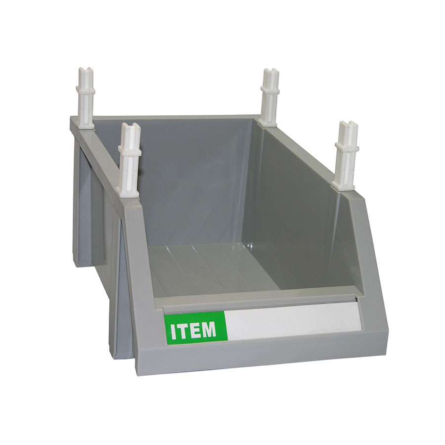 "Update International MOB-127 Modular Condiment Bin - 12x7x5"" Gray"
