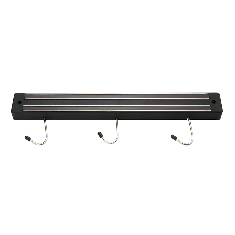 "Update International MTH-13P 13"" Magnetic Tool Holder - (3)Hooks, Black"