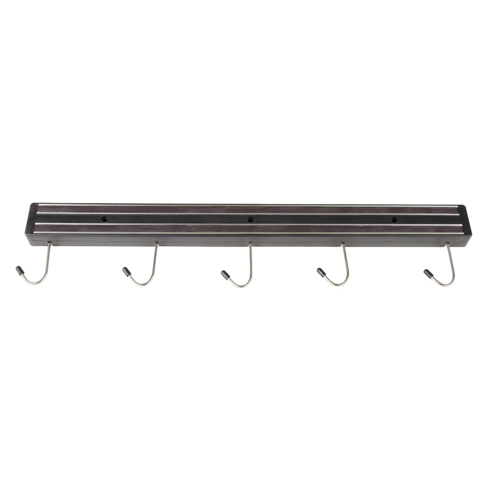 "Update International MTH-24P 24"" Magnetic Tool Holder - (6)Hooks, Black"