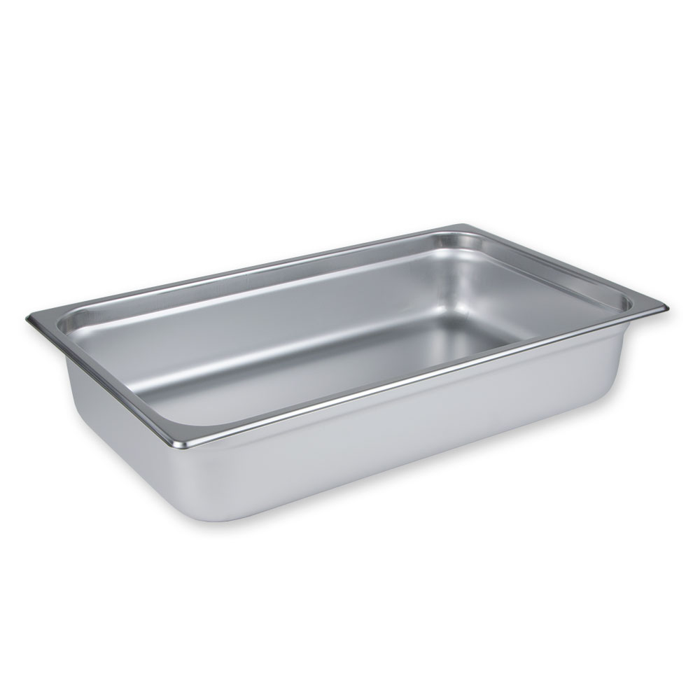 "Update International NJP-1004 Full-Size Steam Table Pan - Anti-Jam, 4"" D, 25-ga Stainless"