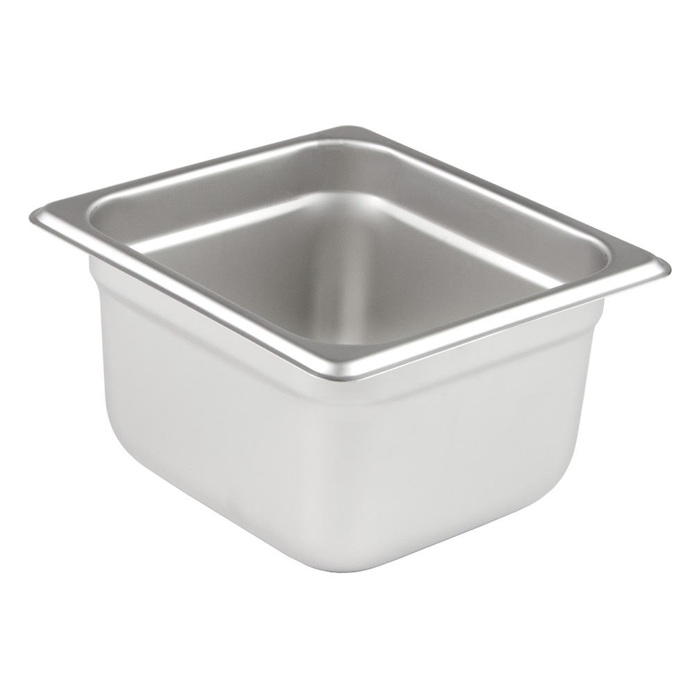 "Update International NJP-164 1/6 Size Steam Table Pan - 4"" D, Anti-Jamming, 25-ga Stainless"