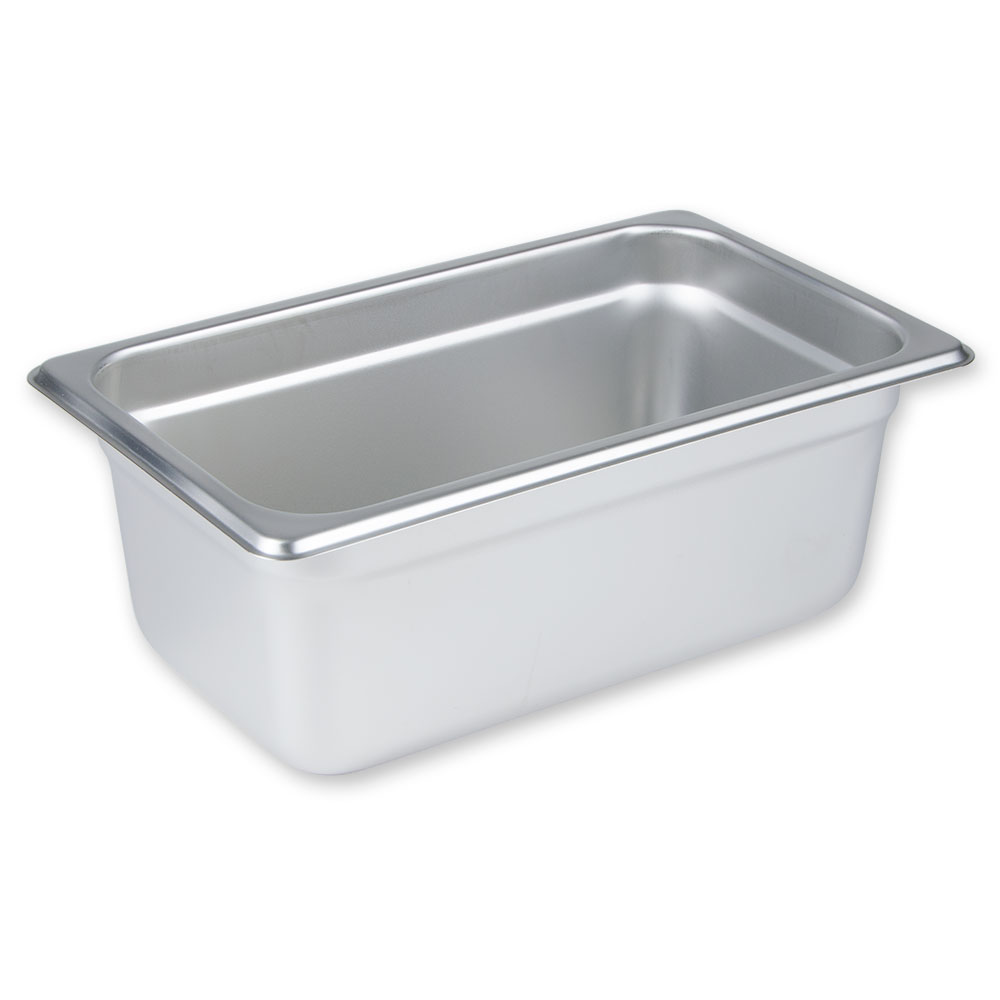"Update International NJP-254 1/4 Size Steam Table Pan - 4"" D, Stainless"