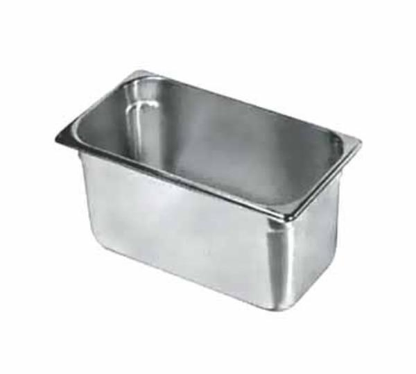"Update International NJP-336 1/3 Size Steam Table Pan - 6"" D, Stainless"
