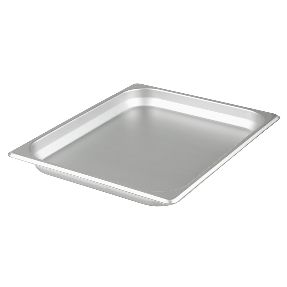 "Update International NJP-502 1/2 Size Steam Table Pan - 2-1/2"" D, Stainless"