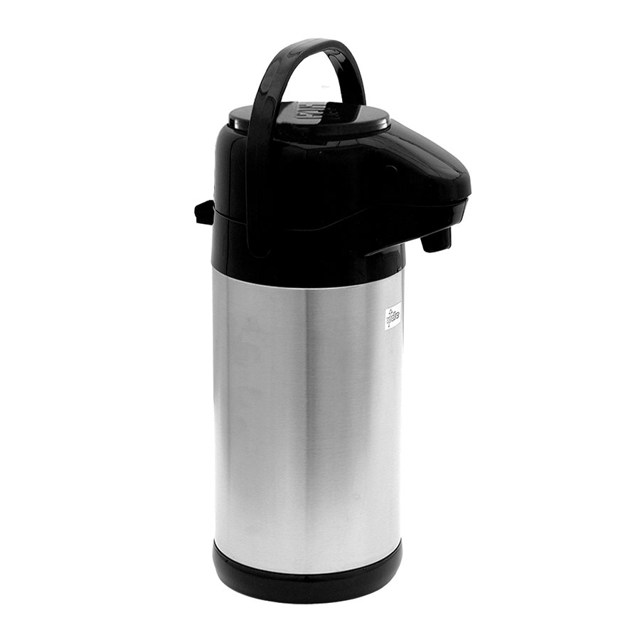 Update International NVSP-30BK 3.0-liter Sup-R-Air Airpot - Stainless Liner, Black Push Top, Stainless