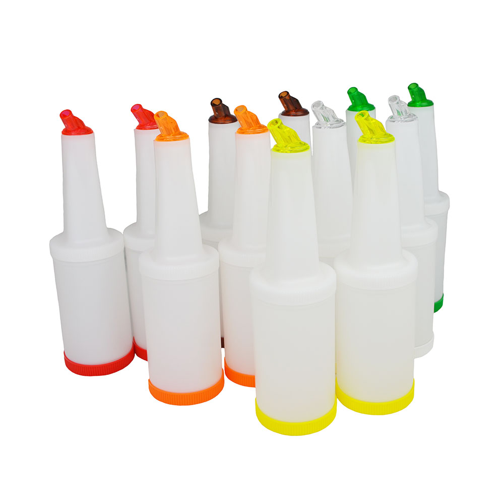 Update International PBA-20 2-qt Flow-N-Store Pour Bottle - Lids/Spouts, Assorted Colors