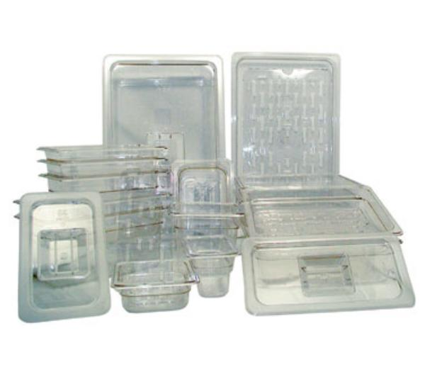 "Update International PCP-1008 Full-Size Food Pan - 6"" D, Polycarbonate"