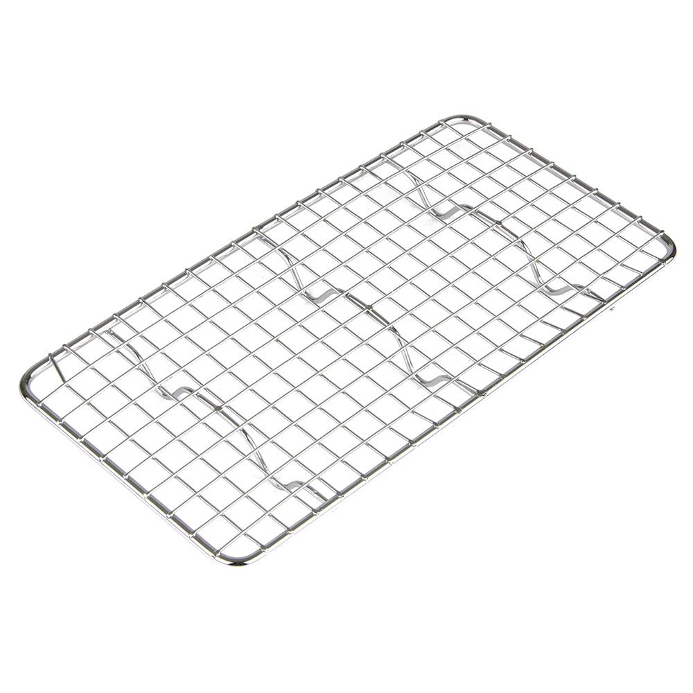 "Update International PG510 1/3 Size Wire Pan Grate - 5x10"" Chrome-Plated"