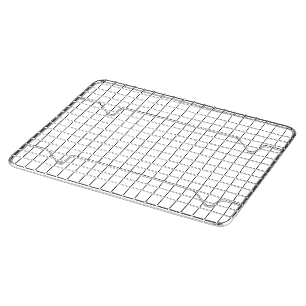 "Update International PG810 1/2 Size Wire Pan Grate - 8x10"" Chrome-Plated"